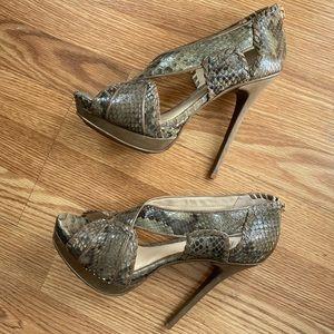 NWOT Alexandre Birman snakeskin heels size 10